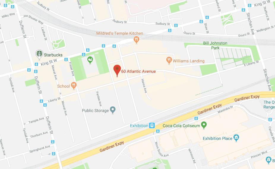 Liberty Dental Hygiene location at 60 Atlantic Avenue Unit 241 Liberty Village Toronto